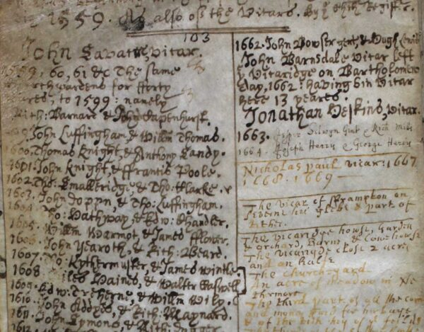 Frampton-on-Severn parish register reproduced with the permission of Gloucestershire Archives